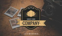 Editable design! Create your own hipster vintage logo, badge or label. Try now!
