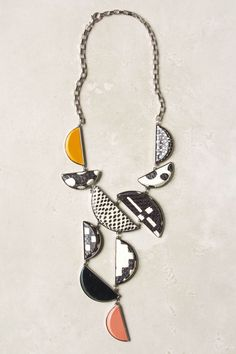 Sliced Geometry Necklace - Anthropologie.com