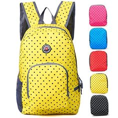 Travel Backpack for Schools - 28l/22l Hopsooken Waterproof Laptop Daypack Bag for Men and Women, Ultra Lightweight School Backpack for Girls, Boys, College Student, Colorful Crossbody Bag (Yellow / 25L Backpack) Hopsooken