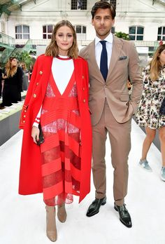 Celebrities Sitting Front Row at Paris Fashion Week - Olivia Palermo and Johannes Huebl from InStyle.com