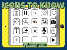 Using iPads in the elementary classroom?  Teach your students these universal icons to make using new iPad apps quicker.