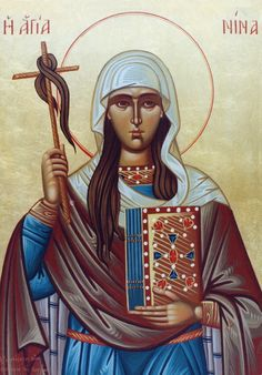Saint Nina, equal to the Apostles and cousin of Saint George the Great Martyr.