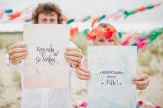 Scherzhafte Hochzeit mit seriösen Vesprechen