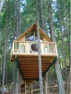 The Cottage Tree House at Vertical Horizons ~ Treehouse Paradise in Cave Junction, Oregon. A B&B Among the Trees!