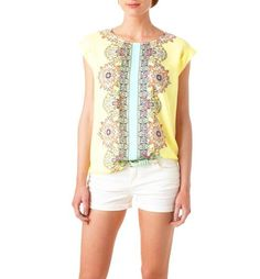 Camiseta de crêpe estampada