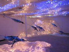 go deep. Artwork from Sayaka Ganz. Animal sculpture made in plastic. Guerrilla Girls, Poesia Visual, Deep Blue Sea, Animal Sculptures, Teaching Art, Journey, Artwork, Html, Study
