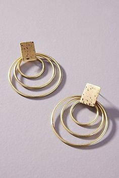 Sibilia Spotted Hooped Post Earrings by in Beige Size: All, Jewelry at Anthropologie Mens Gold Jewelry, Black Gold Jewelry, Modern Jewelry, Fine Jewelry, Unique Jewelry, Jewellery, Steel Jewelry, Women's Jewelry, Copper Jewelry