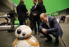 Prince William Photos - The Duke of Cambridge and Prince Harry Visit The 'Star Wars' Film Set - Zimbio
