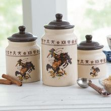 Amazing Bronco 3 Pc Canister Set