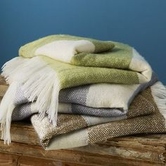 I have a weakness for throws, blankets, and pillows. These look so comfortable.