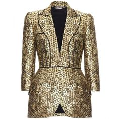 Alexander McQueen Jacquard Structured Jacket ($6,185) ❤ liked on Polyvore