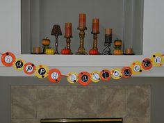 Happy Halloween banner made with cricut #cricut, #halloween, #banner