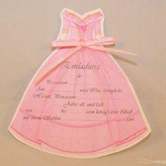 einladung zum kindergeburtstag prinzessin selber basteln, Einladung