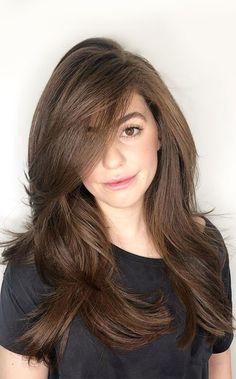 Medium Long Layered Haircuts, Haircuts For Long Hair Straight, Layered Haircuts For Women, Women Haircuts Long, Short Hair With Layers, Medium Hair Cuts, Long Hair Cuts, Medium Hair Styles, Long Hair Styles