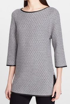 Gorgeous leather trim sweater @nordstrom http://rstyle.me/n/q7f4hnyg6