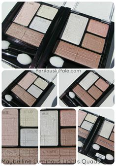 Create an Anti-Smokey Eye Look With Maybelline Luminous Lights Quads ~ Swatches, Photos, Reviews  Perilously Pale