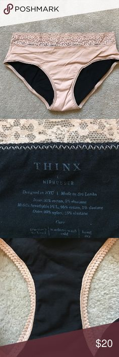 THINX period panties hiphugger nude L NWOT. This style is for heavy days holding up to 2 tampons worth. thinx Intimates & Sleepwear Panties