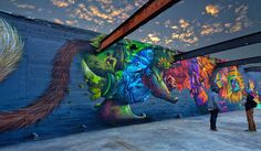 Curiot and Nosego collaborate on a new mural in Baton-Rouge, Louisiana