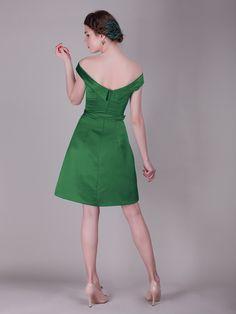 Off the Shoulder Vintage Bridesmaid Dress