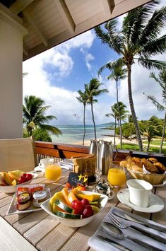 Nadire Atas on Health and Nourishment in Style Relais & château Le Cap Est Lagoon Resort & Spa www. Places To Travel, Travel Destinations, Places To Go, Breakfast Around The World, Breakfast On The Beach, Beau Site, Le Cap, Romantic Surprise, Surprises For Her
