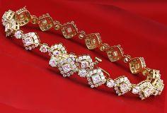 Diamond Bracelet 10.00Ct Tennis Bracelet Natural Round Diamonds Set in 14kt Gold
