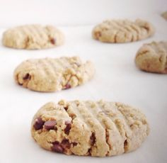 """#paleo """"Peanut Butter"""" Chocolate Chip Cookies"""