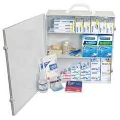PhysiciansCare 694-Piece Industrial 3-Shelf First Aid Station/Cabinet - 50 Person