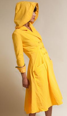 Seaside Raincoat  Available in Yellow Black by LizzBasingerDesigns, $375.00  ... if only it cost less  :(
