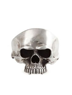 Sterling Silver Skull Cuff Bracelet by Mantiques on Gilt Home