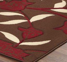Yasmin Chocolate Red Rugs Modern