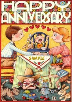 Mary+Engelbreit+Fridge+Magnet+Love+Anniversary+by+VeryMerryMagnets,+$4.25