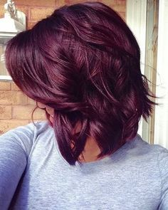 Fall hair color, Cute Red Violet Hair Color for Medium Hair Ideas - New Hair Red Violet Hair, Violet Hair Colors, Hair Color Purple, Hair Color And Cut, Color Red, Purple Burgundy Hair, Dark Burgundy Hair Color, Dark Red Hair Burgundy, Cherry Red Hair