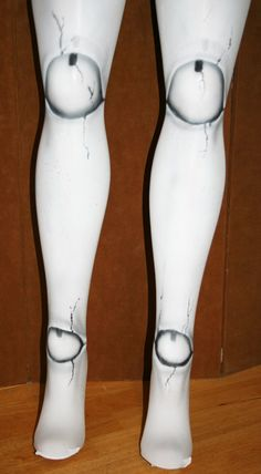 reserved for rosanna- broken doll ball joint tights custom made for you