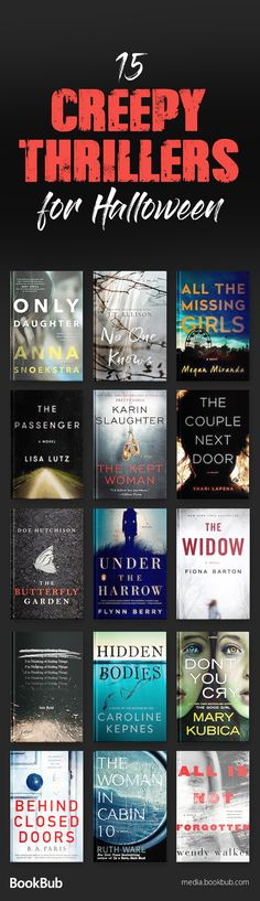 15 Chilling Psychological Thrillers to Read This Halloween These creepy thriller books are worth reading for Halloween. Including twisty thrillers full of suspense and spooky stories for adults. Books And Tea, Book Club Books, Stephen Kings, Best Books To Read, I Love Books, Big Books, Children's Books, Book Suggestions, Book Recommendations