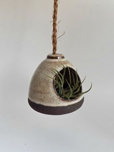 Ceramic Hanging Planter Rustic Indoor Wheel Thrown