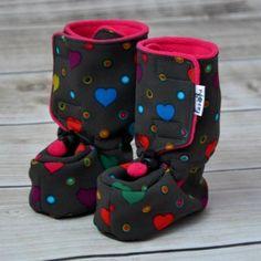 Fazolka softshellové botičky s fleecem SRDÍČKA, 14 cm