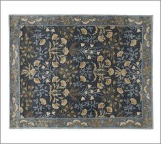 Adeline Rug - Blue. Will look beautiful with my blue willow. Must have for my dining room! 5x8 $399 on sale at Pottery Barn...