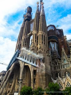 The breathtaking #La #Sagrada #Familia in #Barcelona. Worth it even with all the tourists around! The sheer detail and magnitude will keep you spell-bound!
