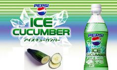 Ice Cucumber Pepsi - available in Japan