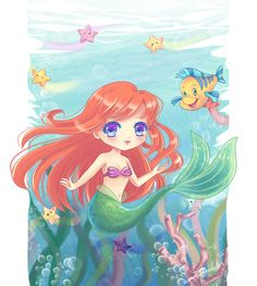Chibi Little Mermaid by =Nawal on deviantART