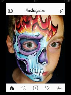 Adult Halloween, Halloween Makeup, Boys Like, Face Art, Painted Faces, Skulls, Facial, Painting, Sugar