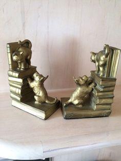Rare Antique Scottish Terrier Dog Cat Bookends | eBay
