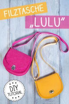 Kleine Schultertasche aus Filz selber nähen | Gratis Schnittmuster und Anleitung von pattydoo | Mini Saddle Bag sewing pattern & tutorial