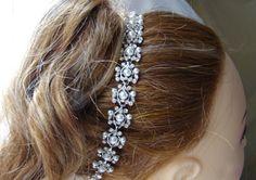 Bridal Headband Rhinestone Glass Pearl Bride, Bridesmaid, Wedding, Party, Gift (HB55)