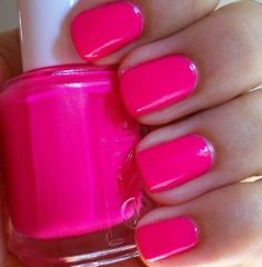 hot pink nails #PGpackinglist #privategallery