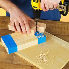 A guide for your handheld drill to make holes. Brilliant!