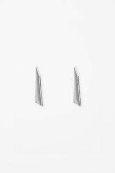 Enamel and metal earrings