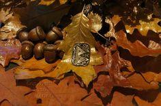 Berkano  Rune Amulet Pendant Handmade Brass Wicca Pagan Viking Druid