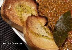 Zuppetta di lenticchie con pomodori pelati - Papilla Monella Confort Food, Baked Potato, French Toast, Potatoes, Baking, Breakfast, Ethnic Recipes, Seaweed, Morning Coffee