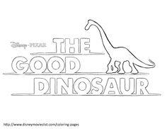 Disneys The Good Dinosaur Poster Logo Coloring Page